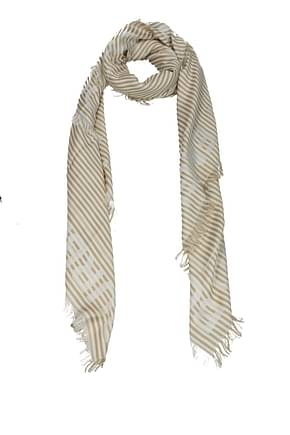 Burberry Foulard Women Silk Beige Cookie