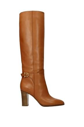 Celine Boots Women Leather Brown Tan