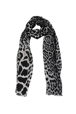 Saint Laurent Foulard Women Silk Black