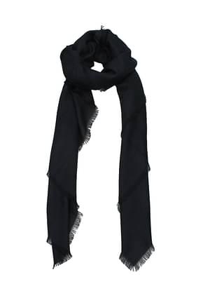 Loewe Scarves Women Wool Blue Dark Blue