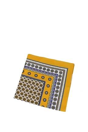 Tory Burch Foulard Women Silk Multicolor Yellow