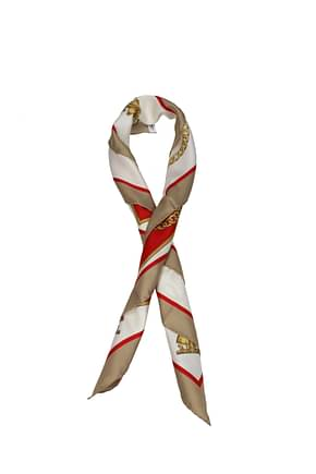 Burberry Foulard Women Silk Beige Bright Red
