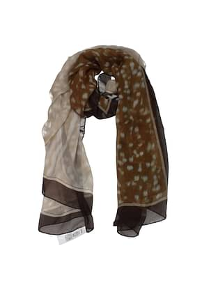 Burberry Foulard Women Silk Brown Cognac