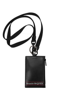 Alexander McQueen Document holders Men Leather Black