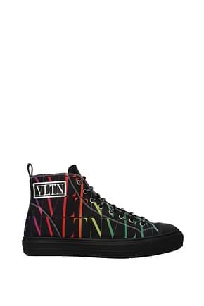 Valentino Garavani Sneakers Men Fabric  Black Multicolor