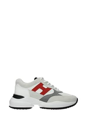Hogan Sneakers interaction Homme Tissu Blanc Rouge