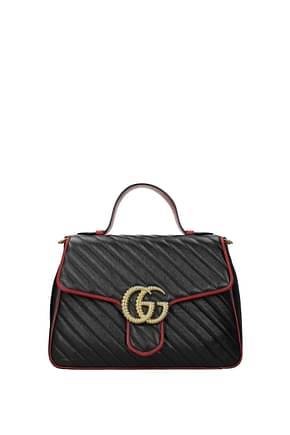 Gucci Handbags marmont Women Leather Black Lipstick