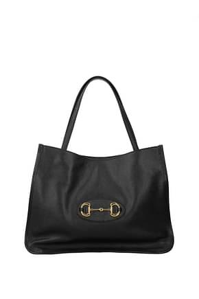 Gucci Shoulder bags horsebit Women Leather Black