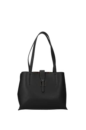 Furla Shoulder bags sofia Women Leather Black