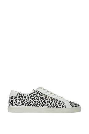 Saint Laurent Sneakers Women Leather White Black