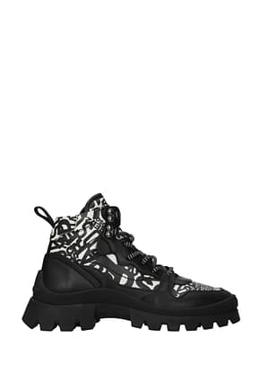 Dsquared2 Ankle boots Women Leather Black Chalk