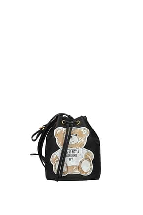 Moschino Crossbody Bag Women Fabric  Black Beige