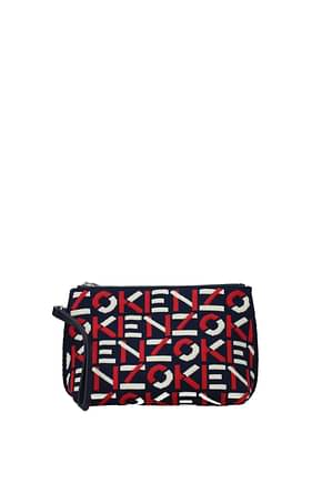 Kenzo Clutches Women Fabric  Blue Rose Pink