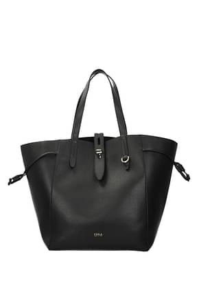 Furla Shoulder bags net Women Leather Black