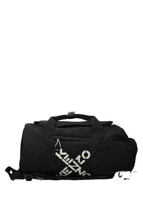 Kenzo Travel Bags Men Fabric  Black White
