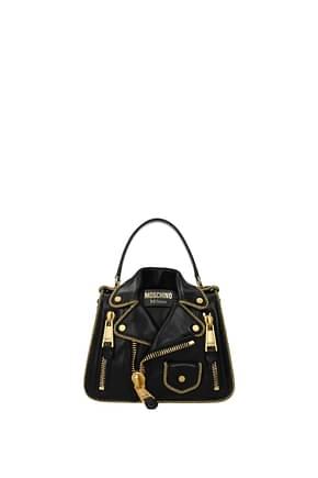Moschino Handtaschen Damen Leder Schwarz