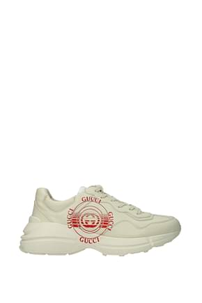Gucci Sneakers apollo Homme Cuir Beige  Ivoire