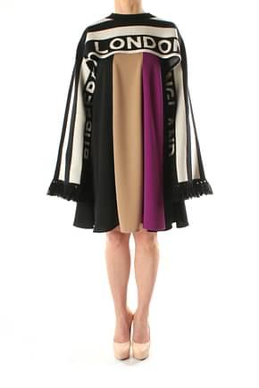 Burberry Scarves Women Cashmere Black Beige