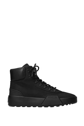 Moncler Ankle Boot Men Suede Black
