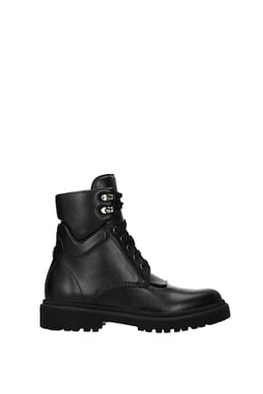 Moncler Ankle boots patty Women Leather Black