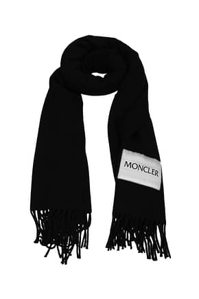 Moncler Scarves Men Wool Black