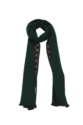 Gucci Scarves Men Wool Green Brown