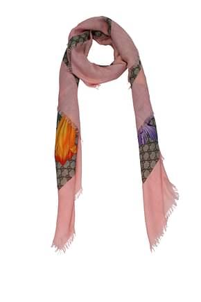Gucci Foulard Women Wool Beige Pink