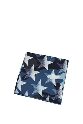 Valentino Tissues Men Silk Blue