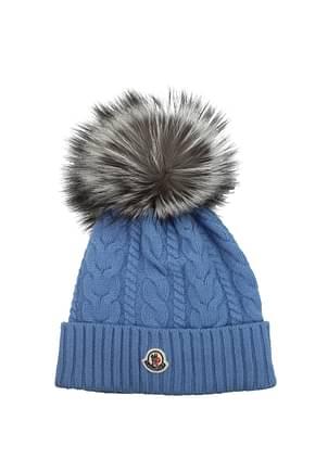 Moncler Mützen & Hüte tricot Damen Kaschmir Blau Zuckerpapier