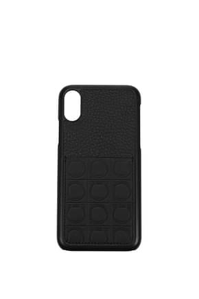 Salvatore Ferragamo iPhone cover iphone x Women Leather Black
