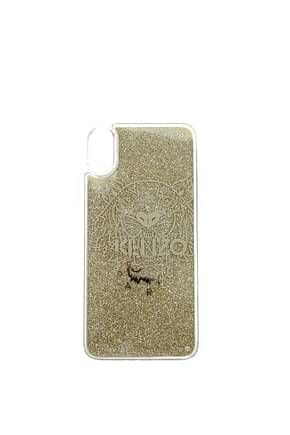 Kenzo iPhone cover x/xs Women Silicone Transparent Gold