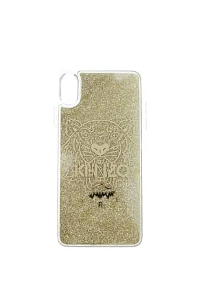 Kenzo iPhone cover xs max Women Plastic Transparent Gold