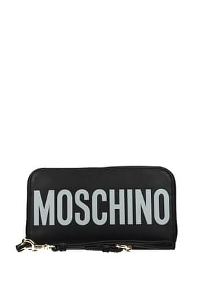 Moschino Wallets Women Leather Black