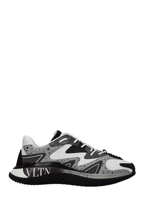 Valentino Garavani Sneakers Herren Stoff Weiß Multicolor