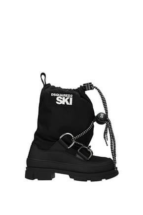 Dsquared2 Stiefeletten ski Damen Stoff Schwarz
