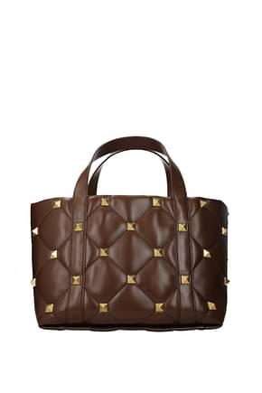 Valentino Garavani Handbags roman stud Women Leather Brown Malt Brown