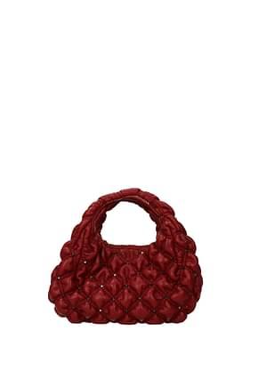 Valentino Garavani Handbags Women Leather Red Dark Red