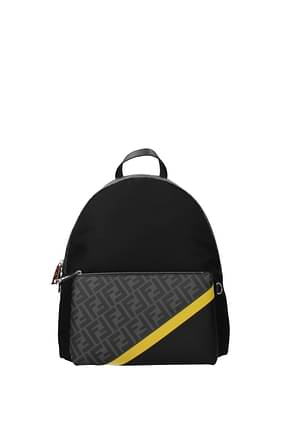 Fendi Backpack and bumbags Men Fabric  Black Grey
