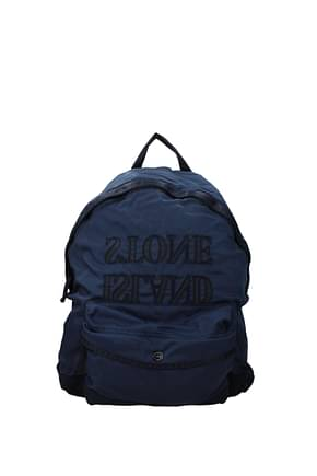 Stone Island Backpack and bumbags junior Men Fabric  Blue Sea Blue