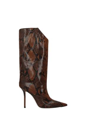 Jimmy Choo Boots bryndis Women Leather Brown Leather