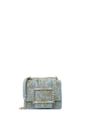 Roger Vivier Crossbody Bag Women Fabric  Heavenly Denim