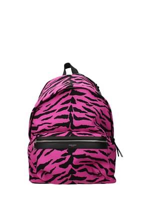 Saint Laurent Backpack and bumbags Men Fabric  Fuchsia
