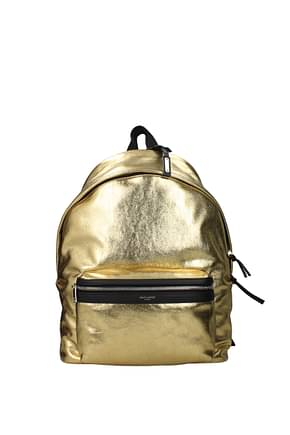 Saint Laurent Backpack and bumbags Men Leather Gold