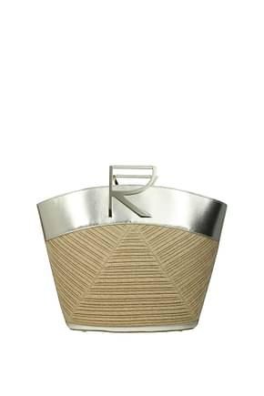 Roger Vivier Handbags Women Fabric  Beige Gold