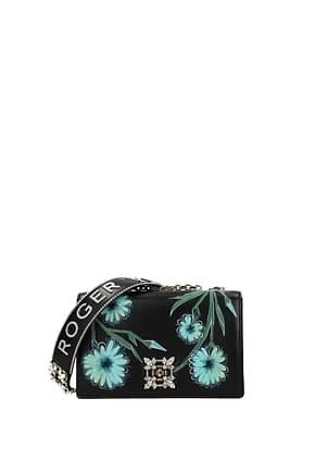 Roger Vivier Crossbody Bag blossom Women Leather Black
