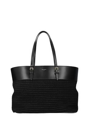 Saint Laurent Shoulder bags Women Raffia Black