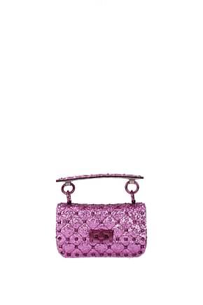 Valentino Garavani Handbags Women Glitter Fuchsia