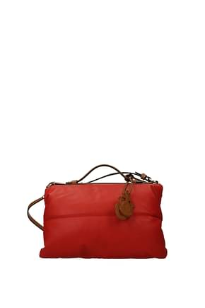 Moncler Handbags jw anderson Women Leather Red Luggage