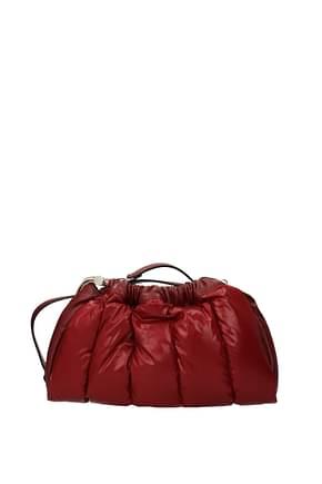Moncler Crossbody Bag seashell Women Fabric  Red Dark Red