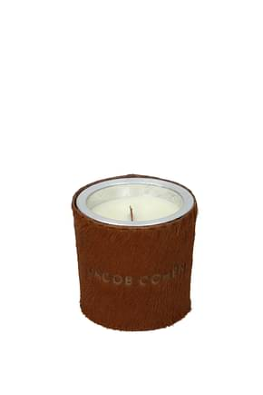 Jacob Cohen Idee Regalo handmade scented soy candle Donna Cavallino Marrone Tabacco